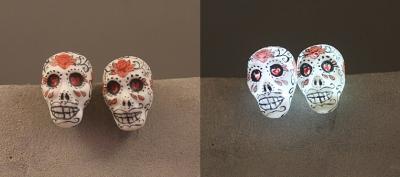 Sugar Skull light up Earrings