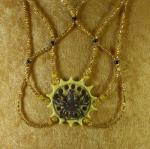 Water Spider Sun Circle Necklace